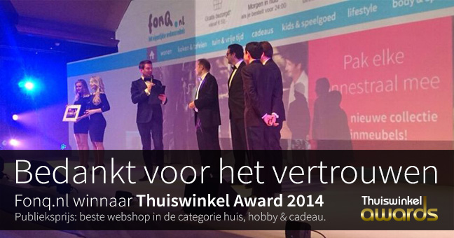 fonq thuiswinkel award
